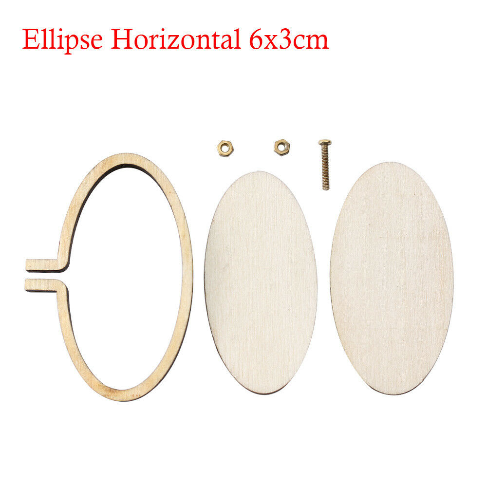 Wooden Frame Cross Stitching Hand Embroidery Hoop Framing Jewelry ...