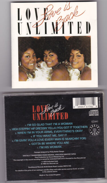 Love Unlimited ‎ Love Is Back CD