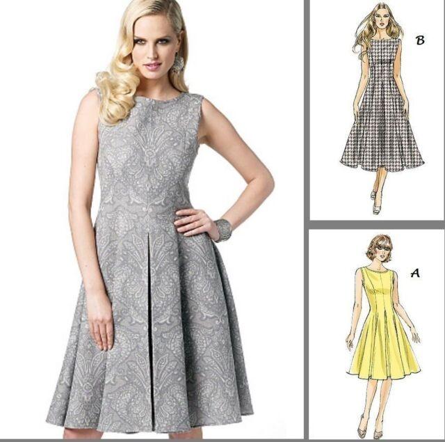 OOP Vogue V8743 Misses Summer Pleated Swing Dress Sewing Pattern ...