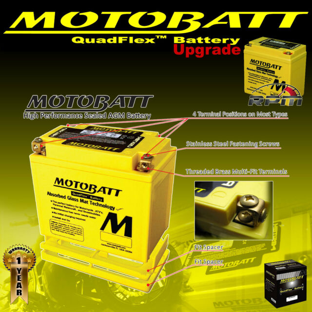 Motobatt Motocycle Battery Upgrade MBTZ14S Replacement For CT12-ABS CTZ14-S