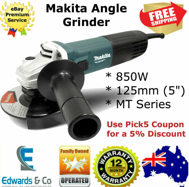 "Angle Grinder 850W 125mm (5"") MT Series Heavy Duty Lightweight Grinding Makita"