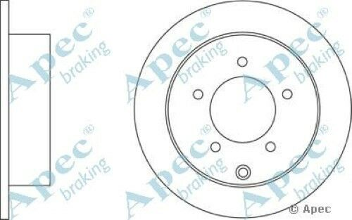 1x OE Quality Replacement Rear Axle Apec Solid Brake Disc 5 Stud 262mm - Single