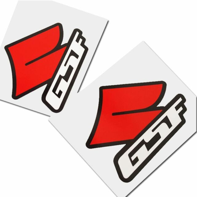 Bandit gsf s motorcycle decals custom graphics stickers red black white x 2