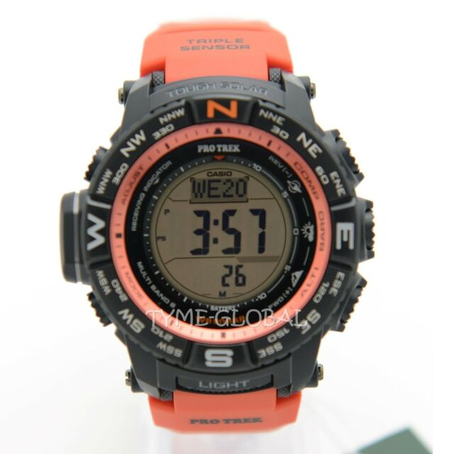 Casio Pro trek PRW-3500Y-4D Solar Powered Resin Band Digital Barometer Watch