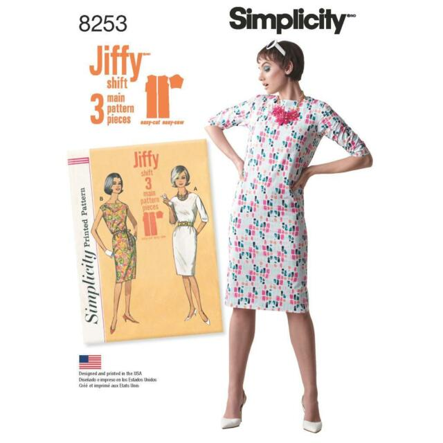 Simplicity Sewing Pattern Misses 1960s Vintage Jiffy Shift Dress ...