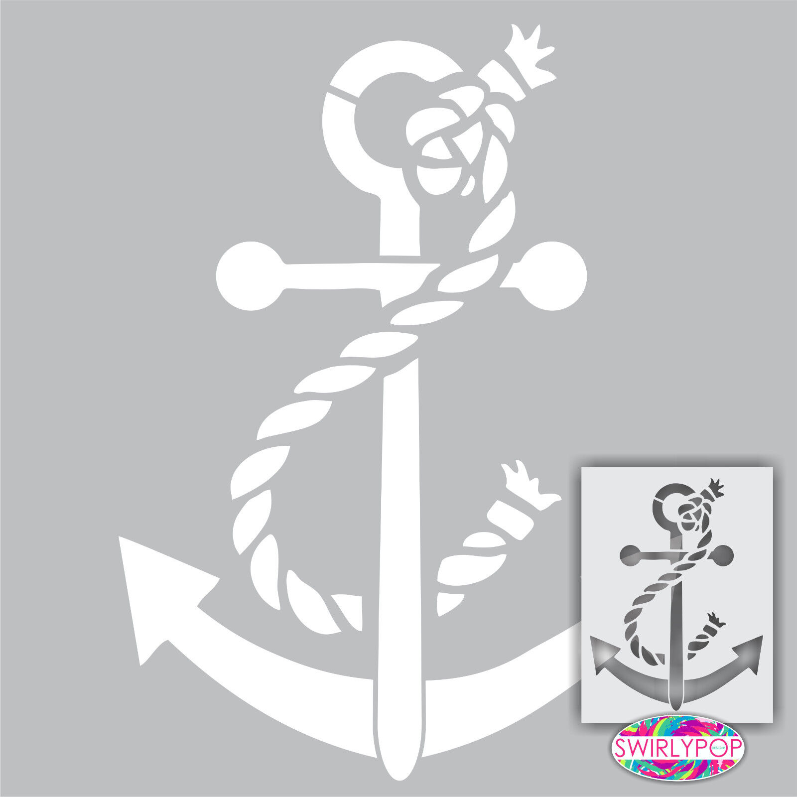 Nautical stencils ebay anchor wall stencil 12 amipublicfo Images