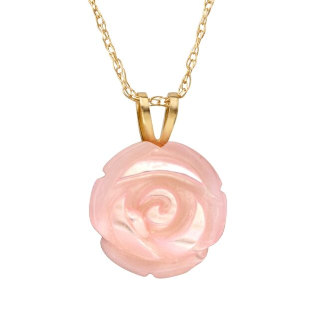 pendant rose necklace rubystella gold heart rg floating