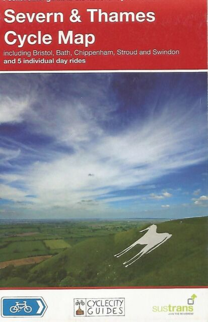 SEVERN AND THAMES CYCLE Map - SUSTRANS  National Cycle Network