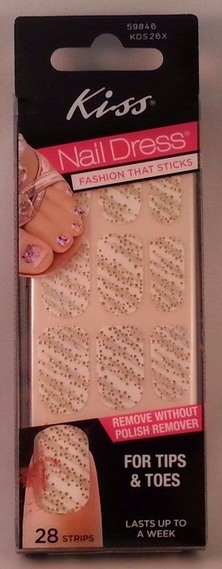 Kiss Nail Dress Fashion That Sticks for Tips & Toes # 59846 KDS26X ...