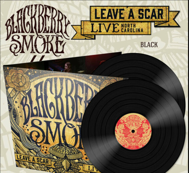"Blackberry Smoke ""Leave A Scar - Live In North Carolina"" 2x12"" Black Vinyl LP"