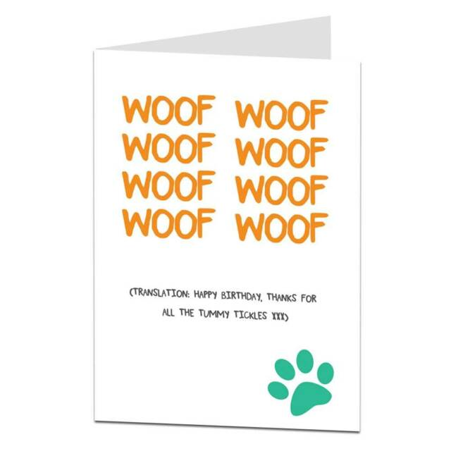 Funny happy birthday card from the dog lover pet theme him her ebay funny happy birthday card from the dog lover pet theme him her bookmarktalkfo Images