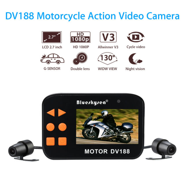 dv188 motorcycle mount action 1080p fhd dual camera. Black Bedroom Furniture Sets. Home Design Ideas