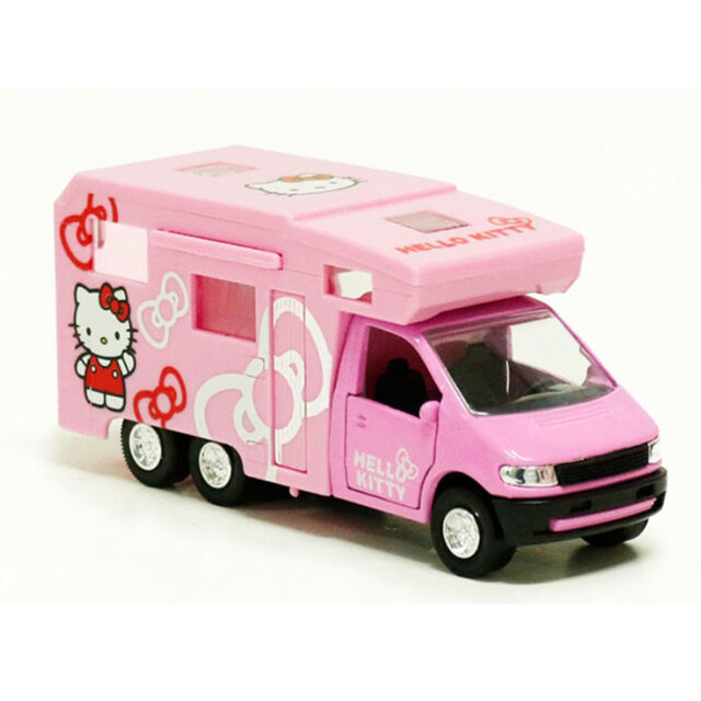 hello kitty mini camping car figure cute rv toy for kids children