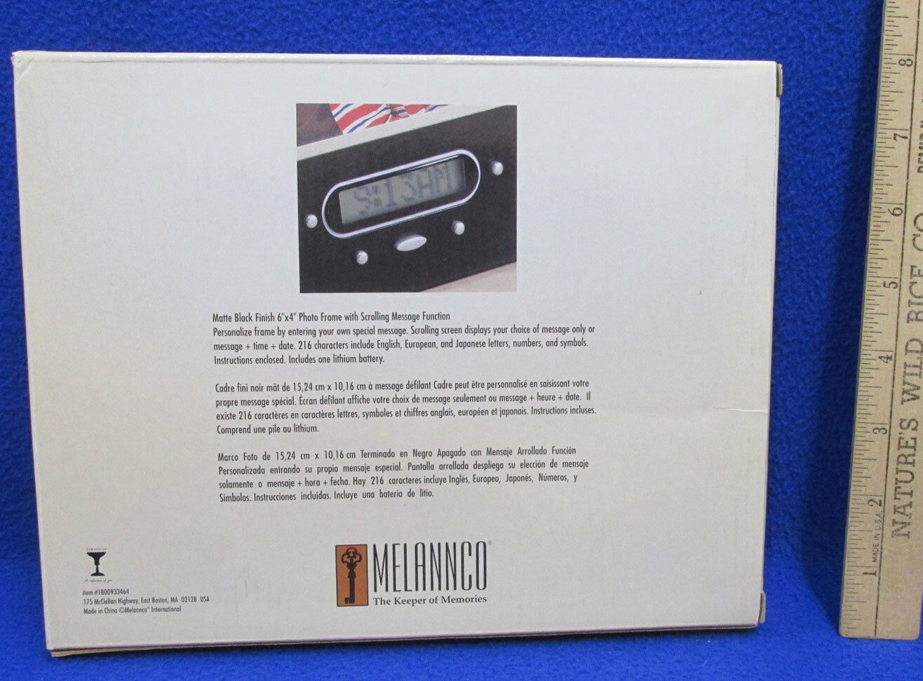 NOS Melannco Photo Frame W/ Scrolling Message Function Black Matte ...