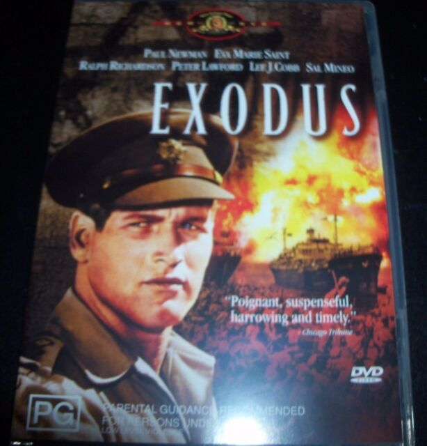 Exodus (Paul Newman Eva Marie Saint) (Australia Region 4) DVD – Like New
