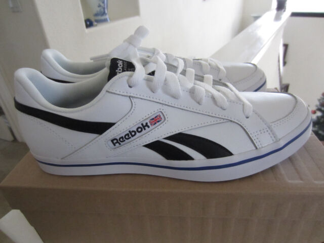 Reebok Classic Mens Court Vulc Low White Leather Athletic Sneakers Shoes Sz  9.5