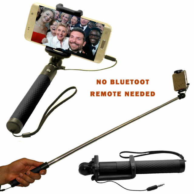 Selfie Stick Monopod Telescopic with wired for Samsung GalaxyS7Edge S7 S6 S6E S5