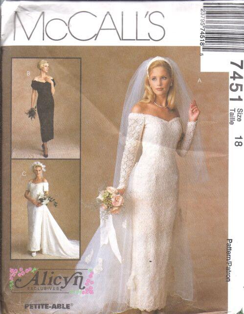 7451 Vintage McCalls Sewing Pattern Wedding Bridal Gown Bridesmaids ...