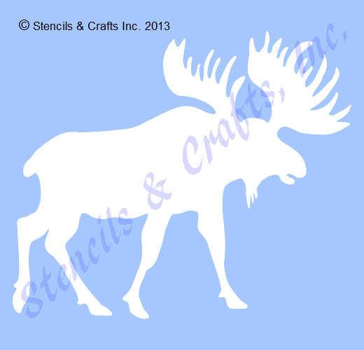 4 moose stencil northwoods stencils animal templates craft paint picture 1 of 1 maxwellsz