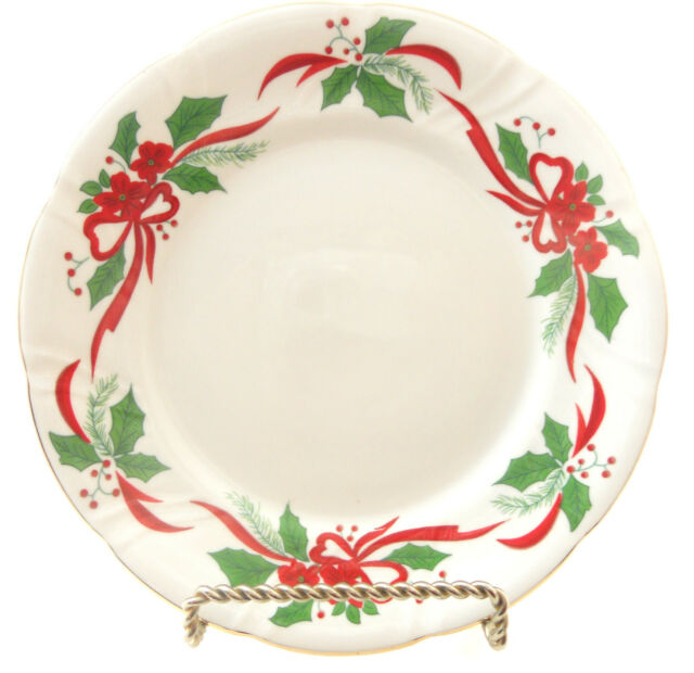 Southington Victorian Holiday Poinsettia Salad Plate 7.25 Baum ...