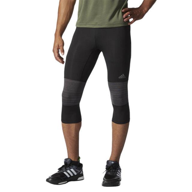 Men's Running Trousers adidas Supernova 3/4 Tight Black Running ClimaCool