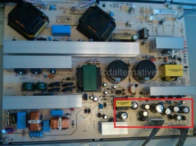 Repair Kit, LG 47LC7DF, LCD TV, Capacitors