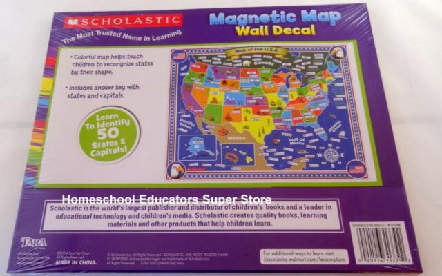 Scholastic magnetic map interactive wall decal home school classroom scholastic magnetic map wall decal geography homeschool classroom teacher states gumiabroncs