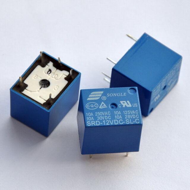 5pcs 12v SPDT Relay Coil 400 Ohm 250vac/30vdc 10a | eBay