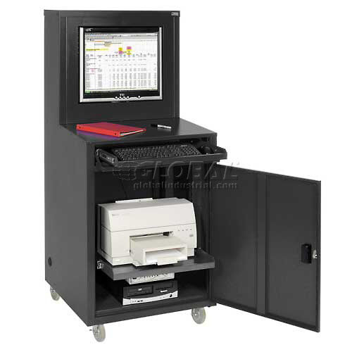 Deluxe LCD Industrial Computer Cabinet Black Assembled | EBay