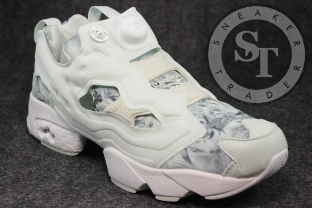 REEBOK INSTAPUMP FURY SG V69989 SEASONAL GRAPHIC OPAL WHITE STEEL DS SIZE  10