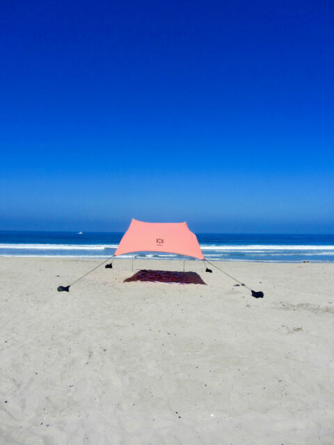 Neso Tents Beach Tent with Sand Anchor Portable Canopy Sun Shelter (Coral) & Nt1all NESO Tents Beach Tent With Sand Anchor Portable Canopy for ...