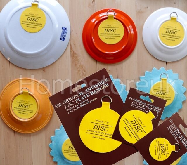 PLATE DISC INVISIBLE PICTURE HANGING STICKY BACK ON HOOK HANGER SELF ADHESIVE & Self Adhesive Disc Plate Hanger 30mm   eBay