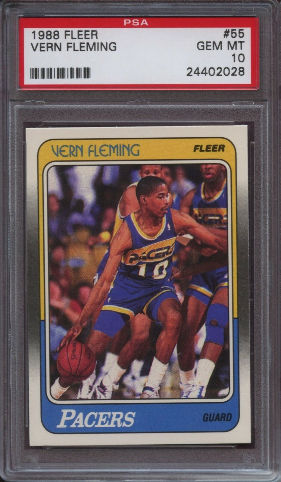 1988 Fleer Vern Fleming 55 Basketball Card