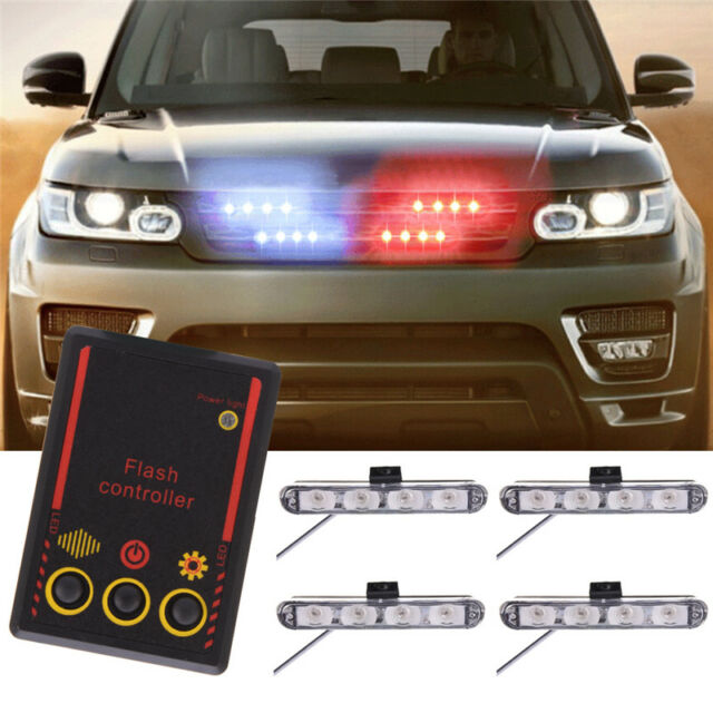16 led car emergency strobe light bar police warning flash visor 16 led car emergency strobe light bar police warning flash visor dash lighting mozeypictures Image collections