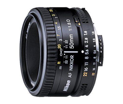 Nikon 2137 AF Nikkor 50 mm F1.8 D FX Full Frame Prime Lens for Nikon DSLR Camer