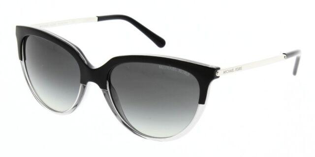 Womens Sue 328011 Sunglasses, Black/Transparent Grey/Gradient, 55 Michael Kors