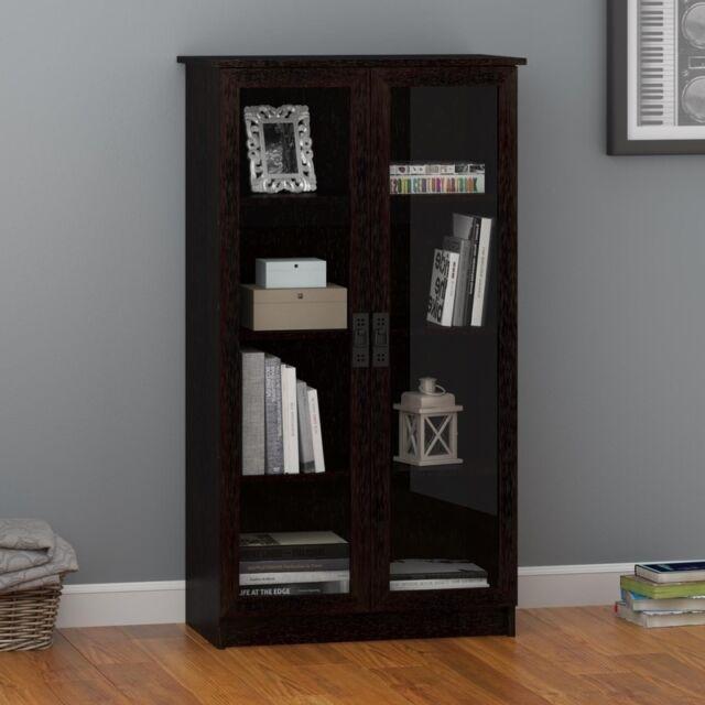 Lovely Altra Black Forest Glass Door Bookcase Office Furniture Book Case Storage  Home | EBay