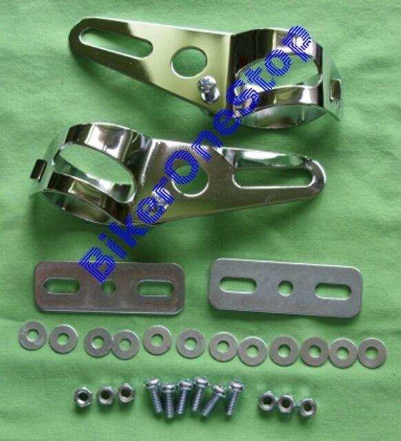 HLB002 - HEADLIGHT BRACKET KIT Fits Fairing Type Headlight To Forks NEW