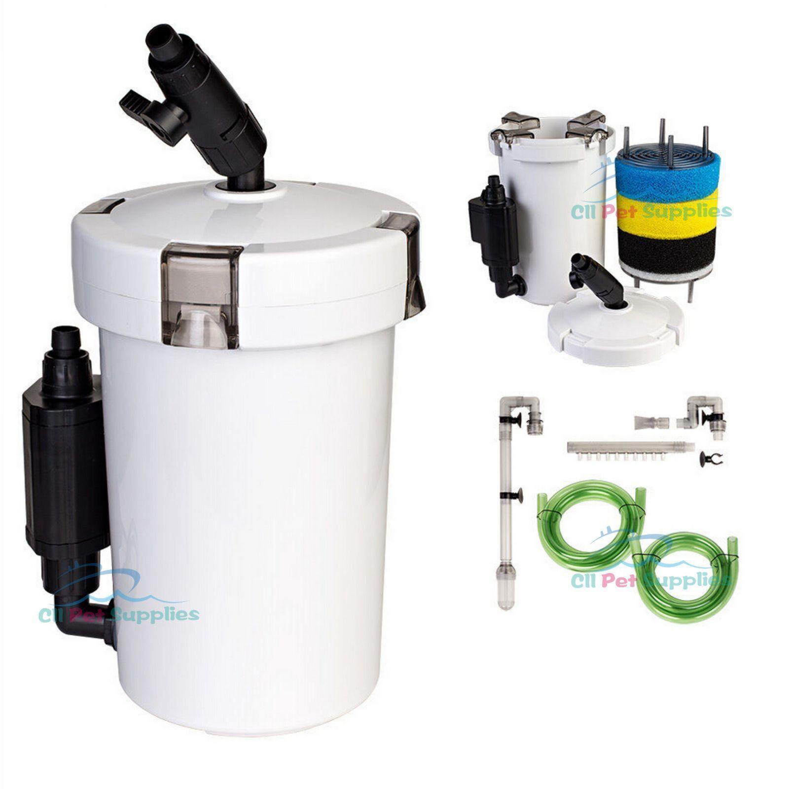 Mini External Canister Filter L Table Top Nano Fresh Salt Aquarium