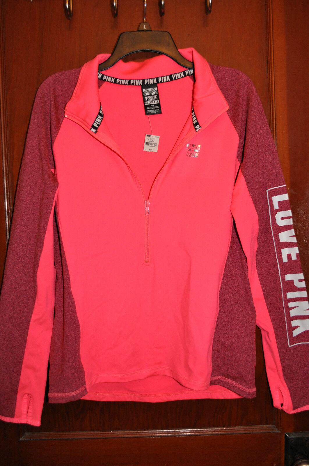 Victoria's Secret Pink Ultimate Deep Zip Pullover Large | eBay