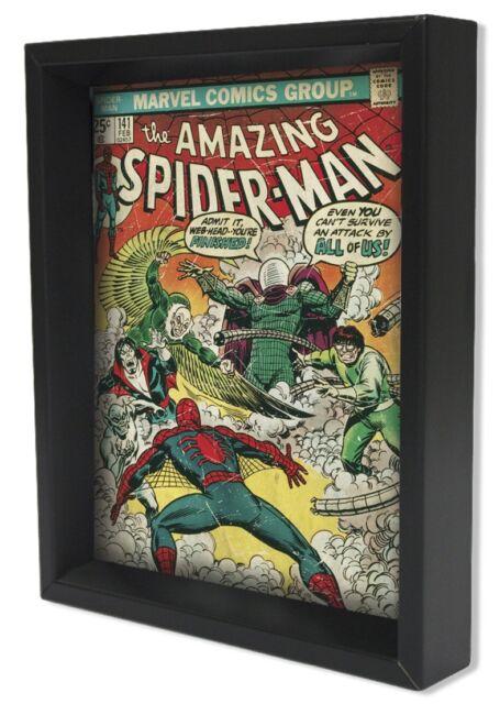 SPIDER-MAN-SPIDER-MAN #141 8x10 3D SHADOWBOX WALL DECOR MARVEL SUPERHERO  sc 1 st  eBay & Marvel Spider Man 3d Wall Art | eBay