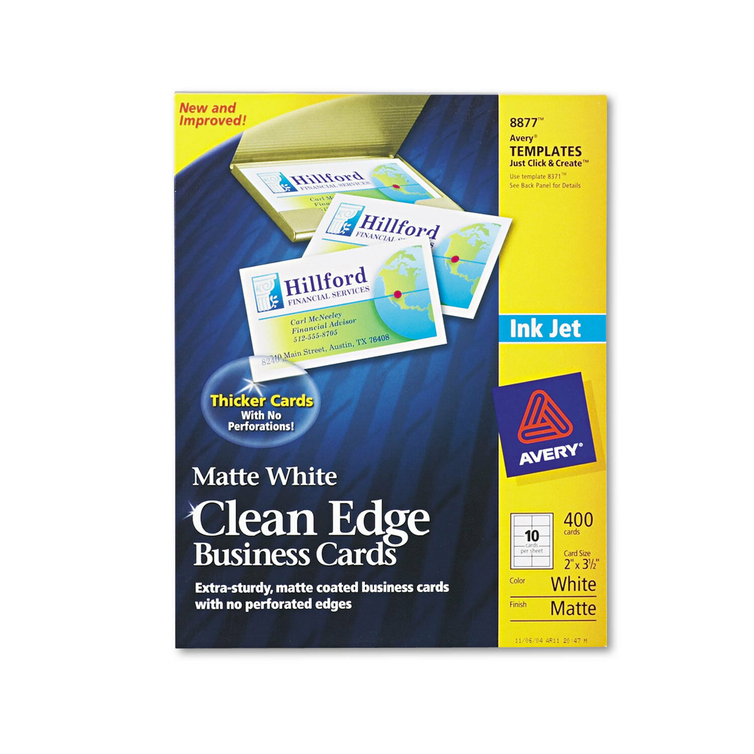 Avery 8877 Clean Edge Printable 350 Business Cards Matte White ...