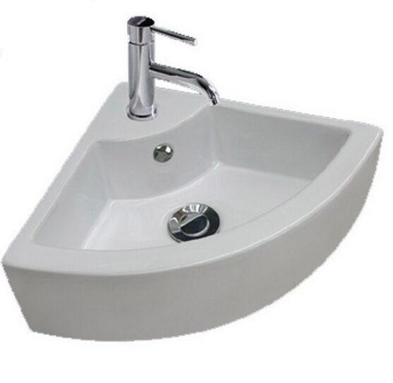 Beautiful Modern U0026 Stylish Small Hand Wash Ceramic Cloakroom Corner Basin Sink 1 Tap  Hole