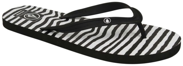 Volcom Women's Rocking 2 Flip Flop, Animal Print, 10 M US