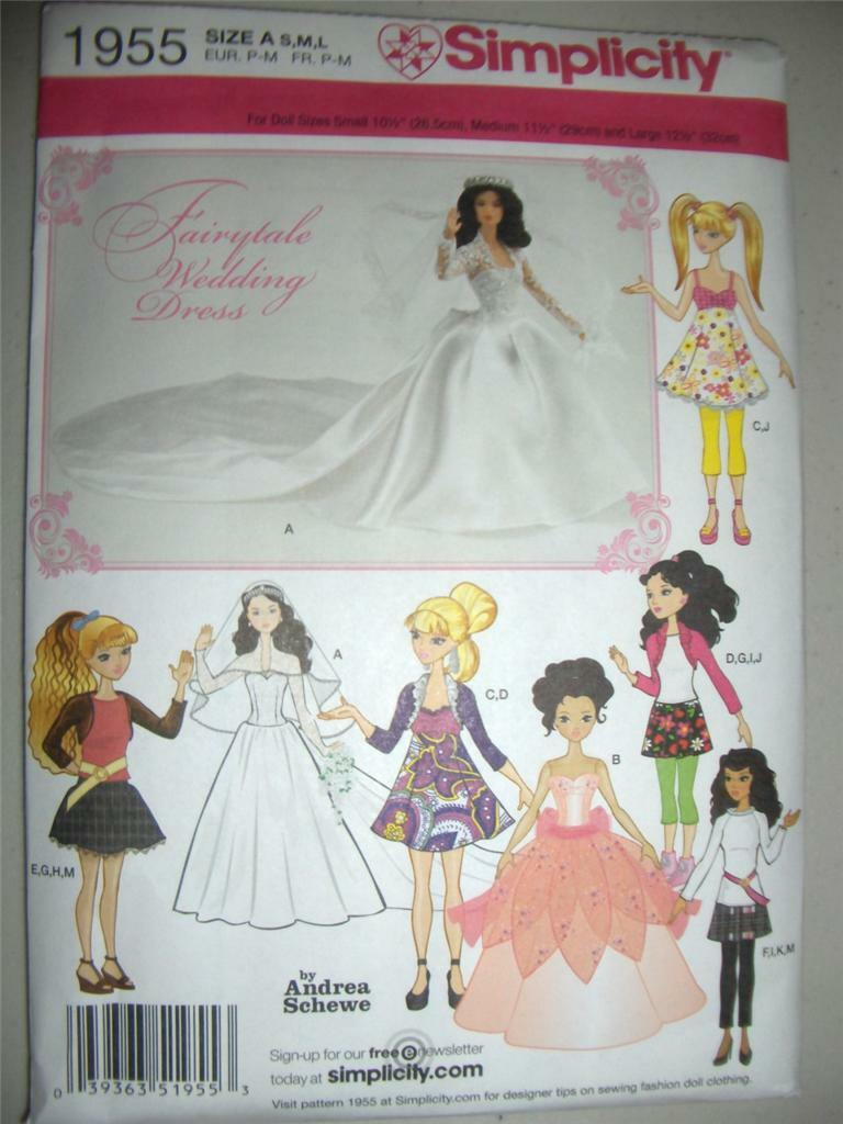 Bratz Barbie Moxie Doll Clothes 3 Sizes Simplicity 1955 / 0382 ...