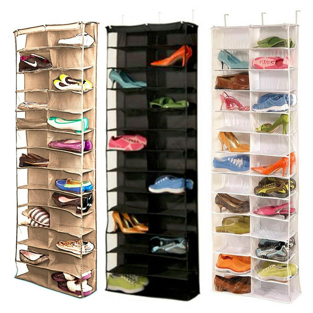 26 Pocket Shoe Organizer Rack Hanging Storage Space Saver Over The