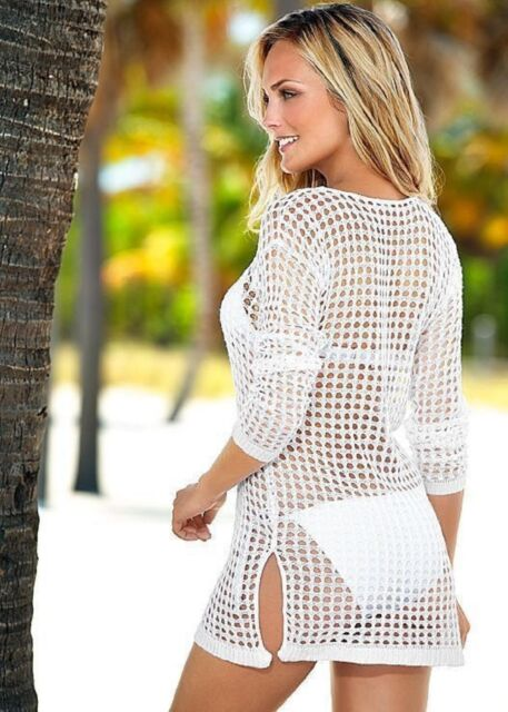 See Through Beach Bohemian Bikini Swimwear Cover Up Long