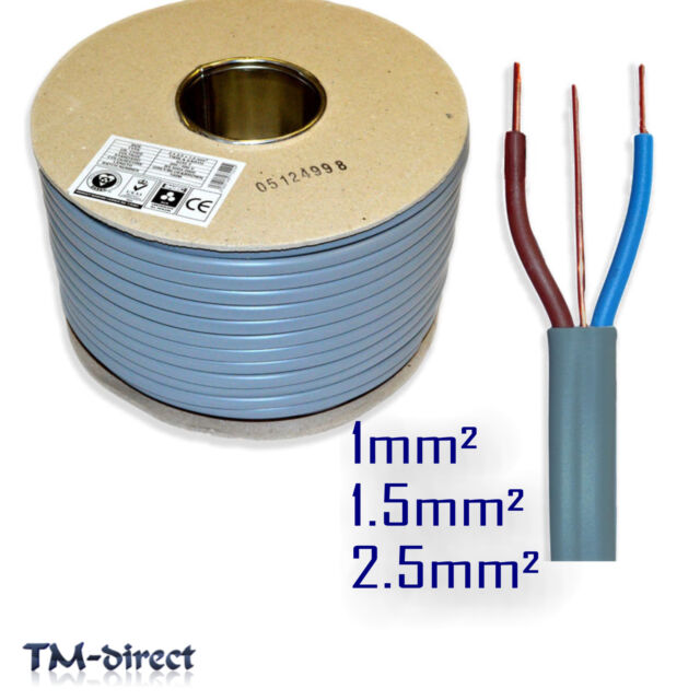 Twin and Earth Electrical Cable 6242y Grey 1 1.5 2.5 Mm Size Length ...