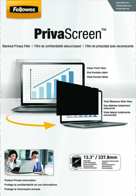 Fellowes PrivaScreen Privacy Filter 13.3-inch Widescreen 16:9