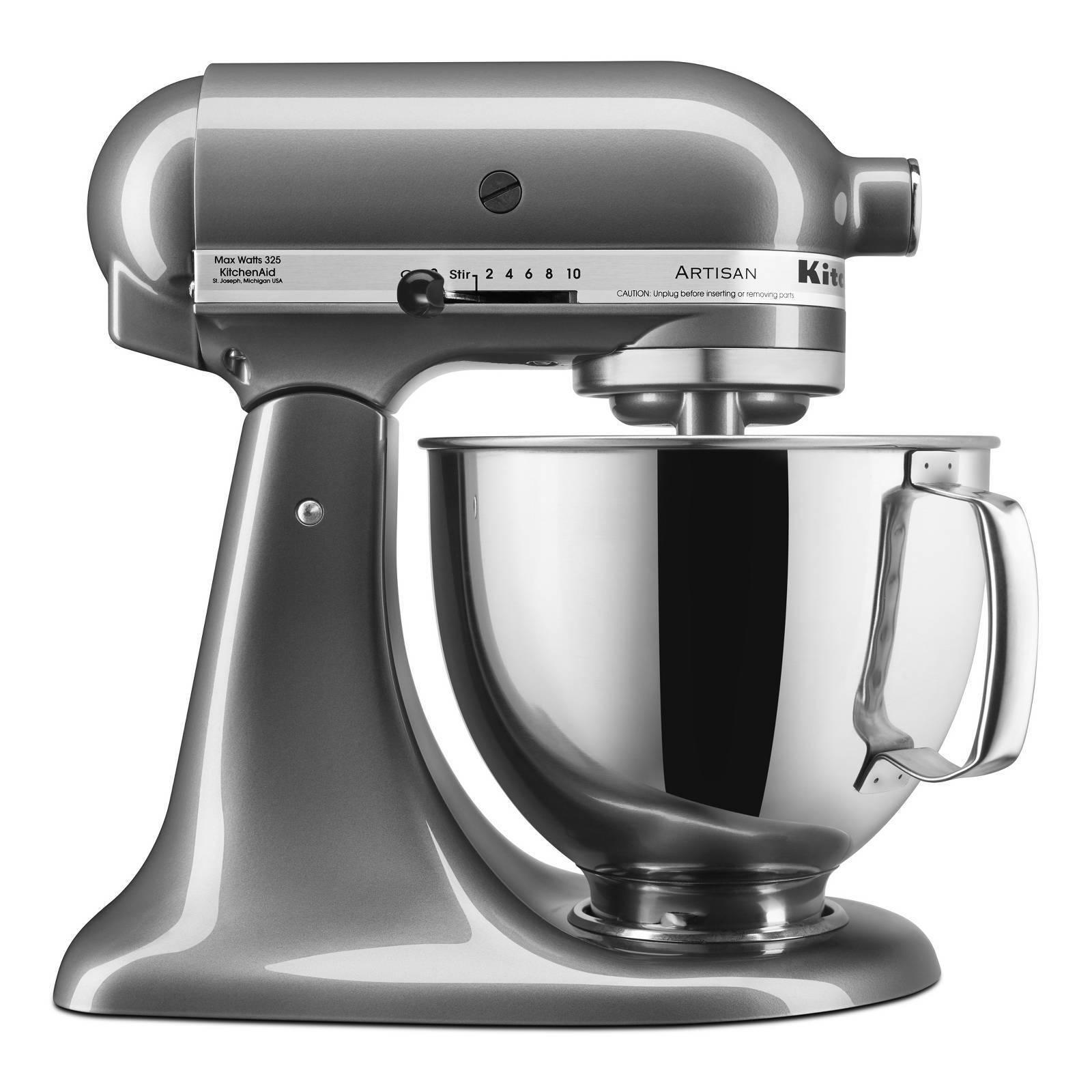Kitchenaid Series 5qt Tilt Head Stand Mixer Silver Ksm150pssm